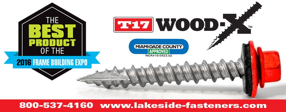 Lakeside Construction Fasteners - Wood-X Award