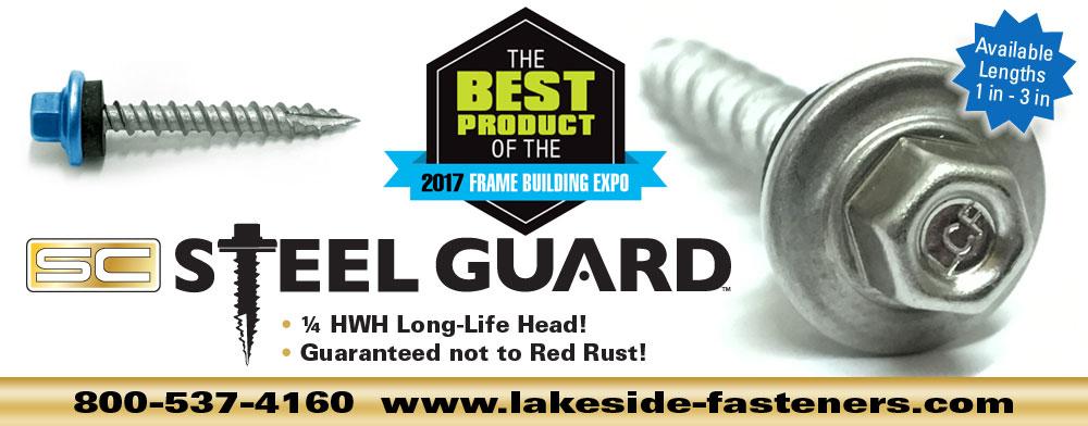 Lakeside Construction Fasteners - SC SteelGuard Award