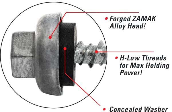Lakeside Construction Fasteners - ZMAX Head Points