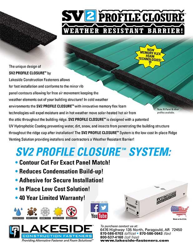 Lakeside SV2 Brochure Cover