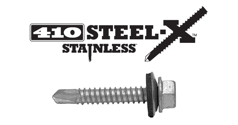 Lakeside Construction Fasteners - 410 STEEL-X STAINLESS