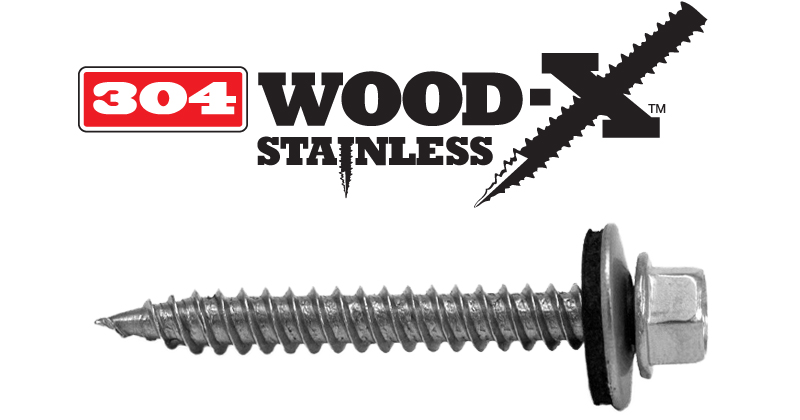 Lakeside Construction Fasteners - 304 WOOD-X STAINLESS
