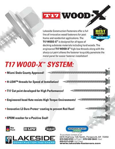 Lakeside T17 Wood-X Info Sheet